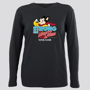 Mighty Mouse Personalize Plus Size Long Sleeve Tee