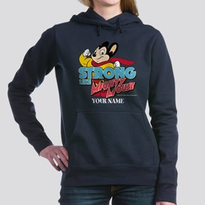 Mighty Mouse Personalize Women's Hooded Sweatshirt