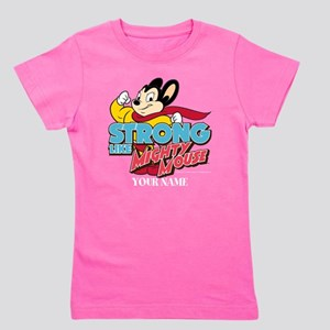 Mighty Mouse Personalized Girl's Tee