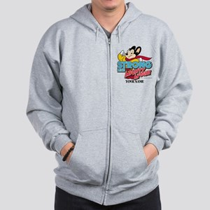 Mighty Mouse Personalized Zip Hoodie