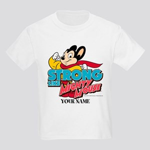 Mighty Mouse Personalized Kids Light T-Shirt