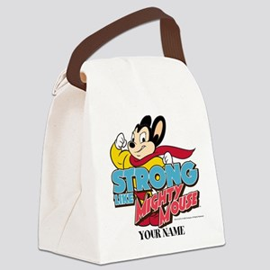 Mighty Mouse Personalized Canvas Lunch Bag