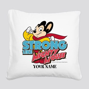Mighty Mouse Personalized Square Canvas Pillow