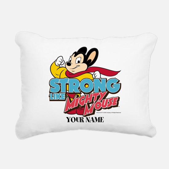 Mighty Mouse Personalize Rectangular Canvas Pillow