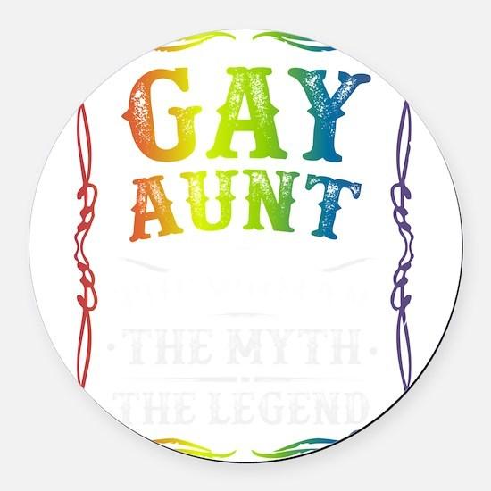 Gay Aunt Round Car Magnet