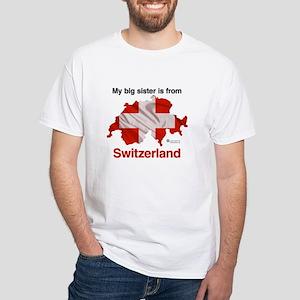 My Big Sister - Switzerland - Light White T-Shirt