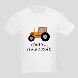 Tractor How I Roll Kids Light T-Shirt