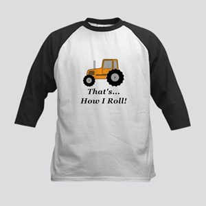 Tractor How I Roll Kids Baseball Jersey