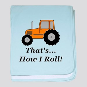 Tractor How I Roll baby blanket
