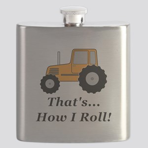 Tractor How I Roll Flask