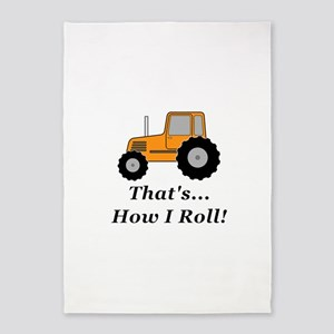 Tractor How I Roll 5'x7'Area Rug