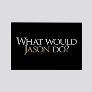 What Would Jason Do? Rectangle Magnet