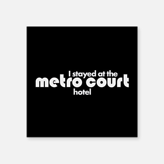 "Metro Court Square Sticker 3"" x 3"""