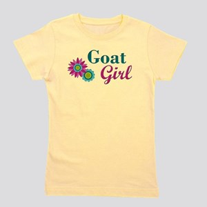 Goat Girl w flower T-Shirt