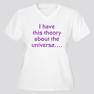 E8 Theory of Everything Women's Plus Size V-Neck T