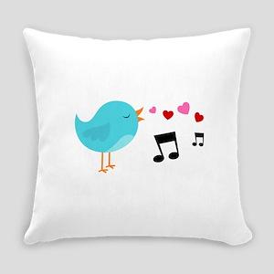 Singing Blue Bird Everyday Pillow