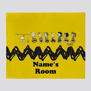 Peanuts Running Personalized Throw Blanket