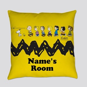 Peanuts Running Personalized Everyday Pillow
