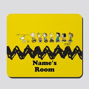 Peanuts Running Personalized Mousepad