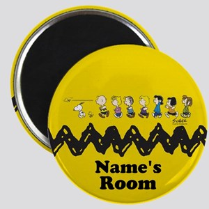 Peanuts Running Personalized Magnet