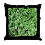 Green Moss Throw Pillow