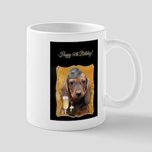 50th Birthday Dachshund Mugs