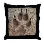 Coyote Track Throw Pillow