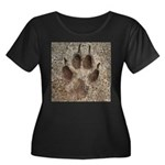 Coyote T Women's Plus Size Scoop Neck Dark T-Shirt