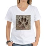 Coyote Track Women's V-Neck T-Shirt