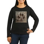Coyote Track Women's Long Sleeve Dark T-Shirt
