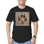Coyote Track Men's Fitted T-Shirt (dark)