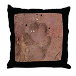 Coyote Front Track Throw Pillow