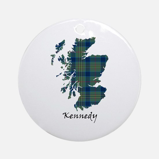 Map - Kennedy Ornament (Round)