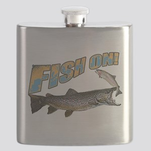 Fish on brown trout feeding Flask