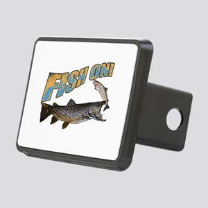 Fish on brown trout feedin Rectangular Hitch Cover