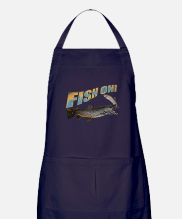 Fish on brown trout feeding Apron (dark)