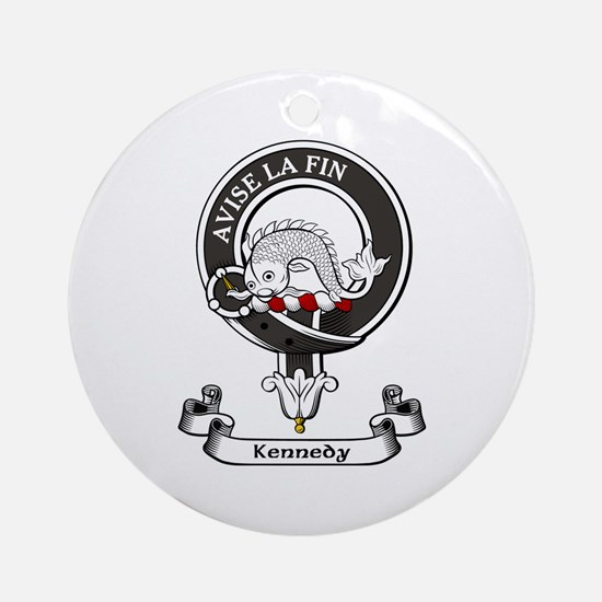 Badge - Kennedy Ornament (Round)
