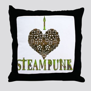 I Love Steampunk Throw Pillow