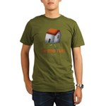 Home Run - SEE BACK Organic Men's T-Shirt (dark)