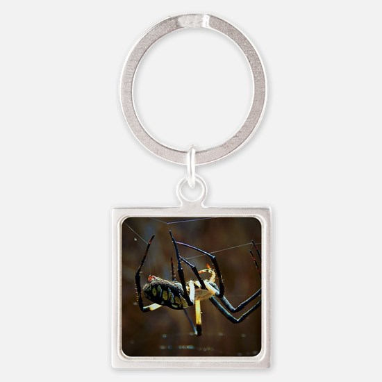 Cute Spider Square Keychain