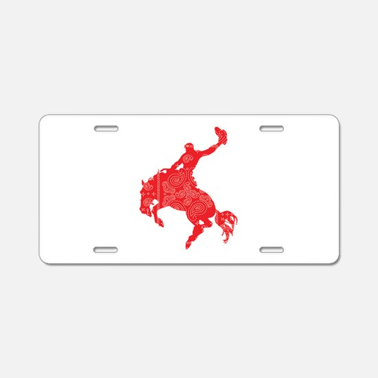 Bandana Bronco Aluminum License Plate