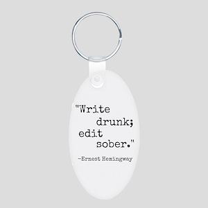 Write Drunk Keychains