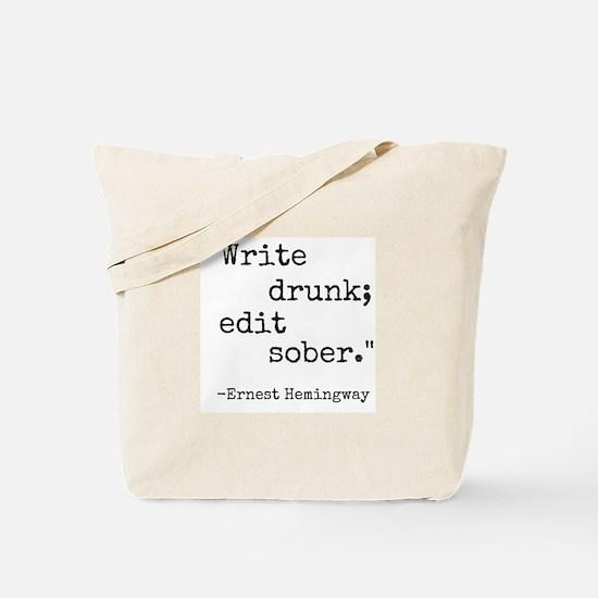 Write Drunk Tote Bag