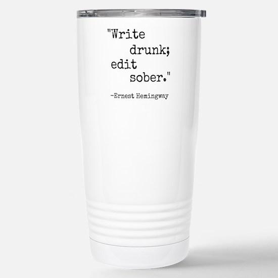 Write Drunk Travel Mug
