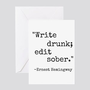 Write drunk edit sober greeting cards cafepress write drunk greeting cards m4hsunfo