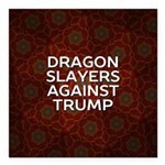 "Dragon Slayers Against Square Car Magnet 3"" X"