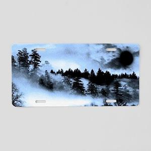 Dark Forest Aluminum License Plate