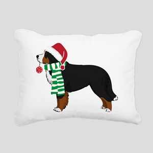 Christmas Bernese Mt Dog Rectangular Canvas Pillow