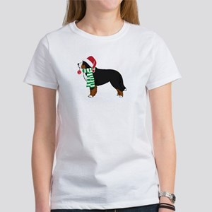 Christmas Bernese Mt Dog Women's T-Shirt