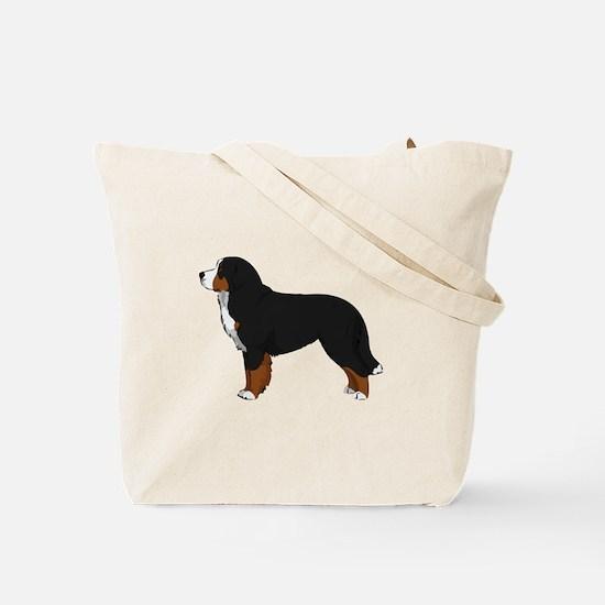 Christmas Bernese Mt Dog Tote Bag